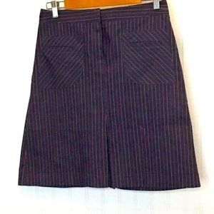 Lilly Pulitzer Career Pinstriped Skirt Gray 6